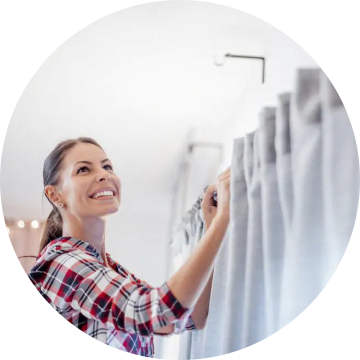 Washing Curtains - Vili House Cleaning